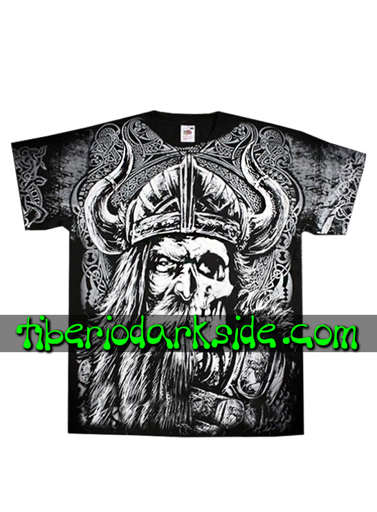 HOMBRE - Camisetas FRUIT OF THE LOOM Camiseta Viking Calavera