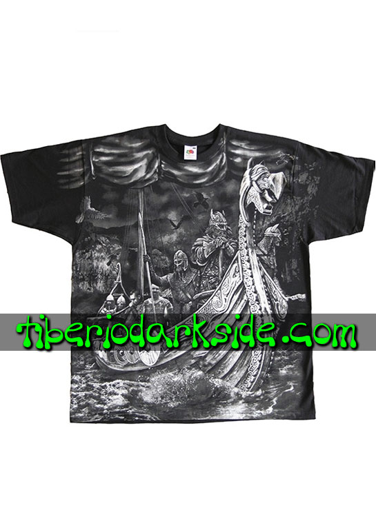 HOMBRE - Camisetas FRUIT OF THE LOOM Camiseta Viking Drakkar