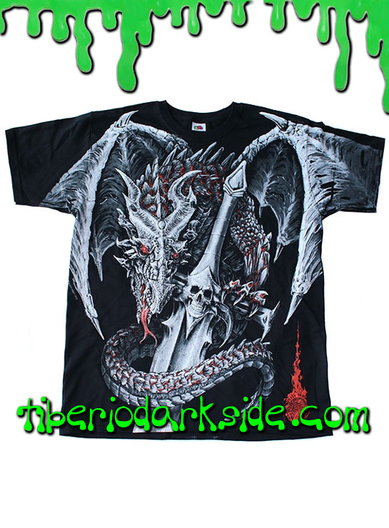 HOMBRE - Camisetas FRUIT OF THE LOOM Camiseta Dragon Espada