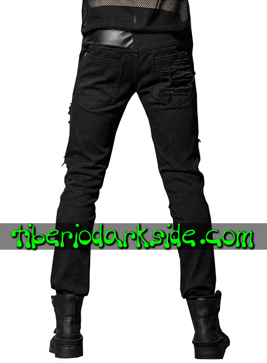 Tiberio Dark Side. Trousers - PUNK RAVE Trashed Post Apocalyptic Trousers