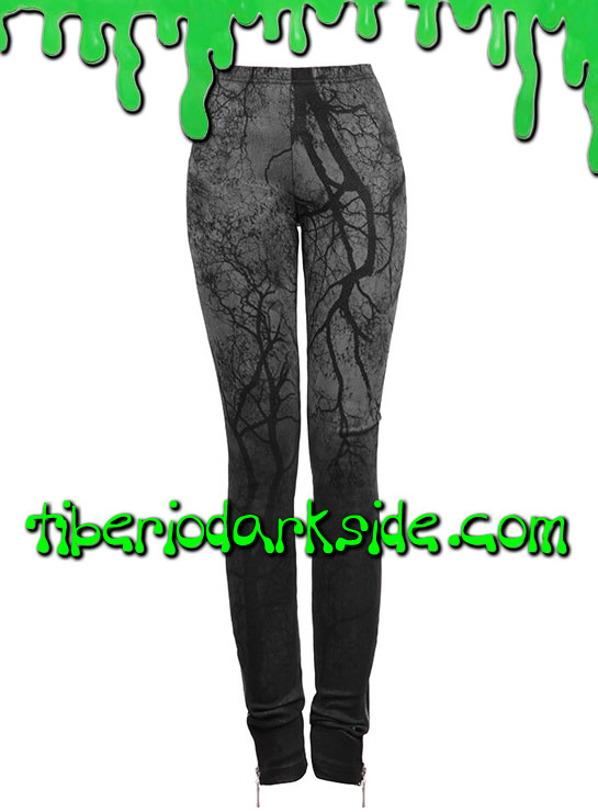 Pantalones - Leggings PUNK RAVE Leggings Ramas Negras