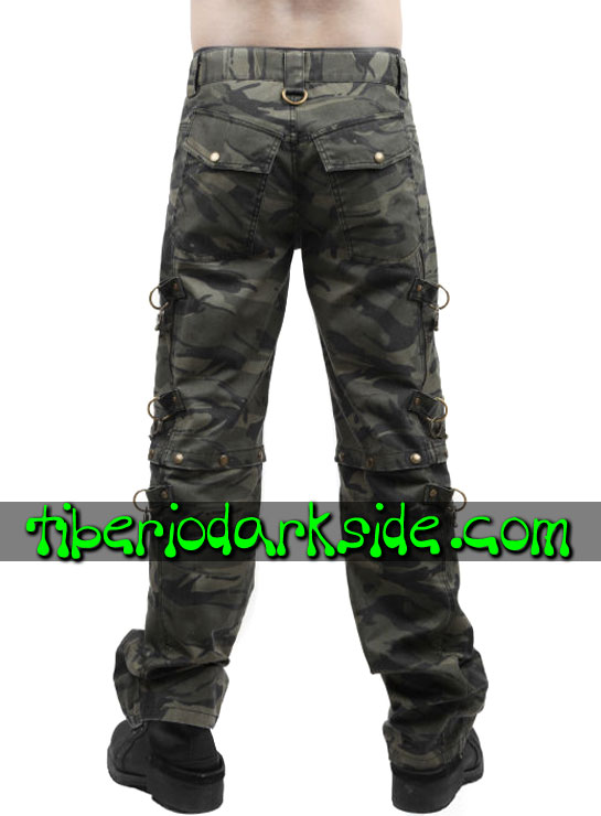 Tiberio Dark Side. Trousers - PUNK RAVE Military Camouflage Trousers