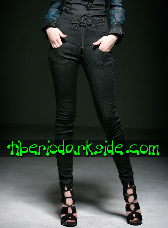 Tiberio Dark Side. FOLK GOTH - PUNK RAVE Torero Back Lacing Folk Goth Trousers