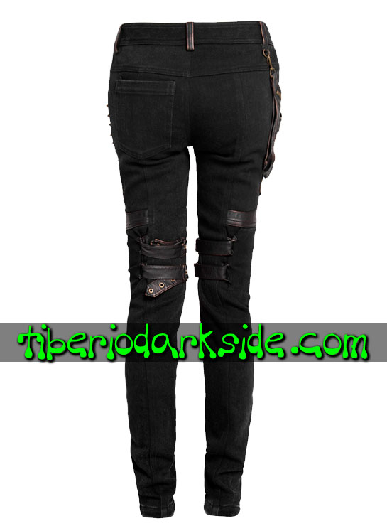 Tiberio Dark Side. Pantalones - PUNK RAVE Pantalones Post Apocalipticos Bolsillo Lateral