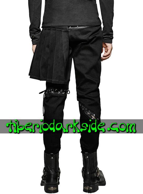 Tiberio Dark Side. Pantalones - PUNK RAVE Pantalones Visual Kei Falda Lateral