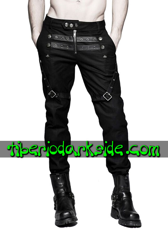 Tiberio Dark Side. CORPORATE & MILITARY GOTH - PUNK RAVE Pantalones Military Goth Hebillas