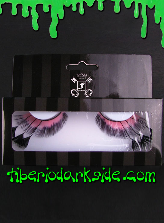 MAKE UP - Lashes Pink and Black Feather False Eyelashes