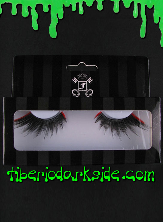 MAKE UP - Lashes Black and Red False Eyelashes