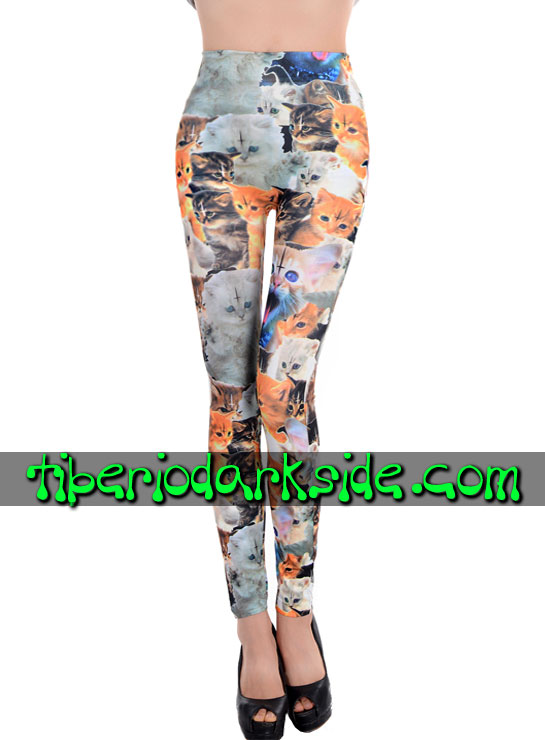 Pantalones - Leggings TIBERIO DARK SIDE Leggings Gatos Satanicos