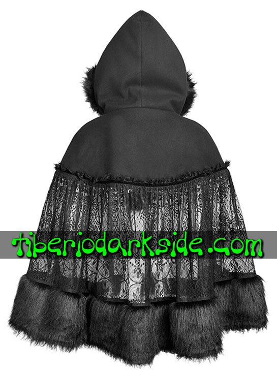Tiberio Dark Side. GOTHIC LOLITA - PYON PYON Hooded Lace Gothic Lolita Cloak
