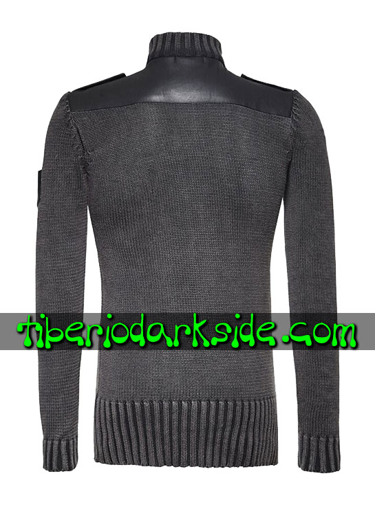 Tiberio Dark Side. Tops - PUNK RAVE Jersey Post Apocaliptico Milicia