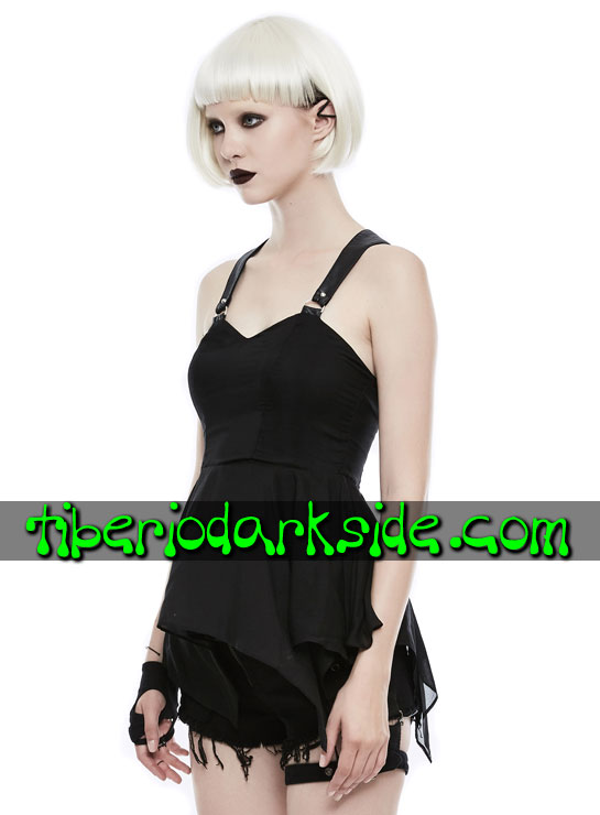 Tiberio Dark Side. CASUAL & DAILY GOTH - PUNK RAVE Top Casual Goth Peplum