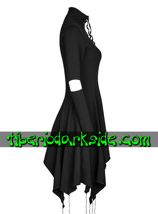 Tiberio Dark Side. CASUAL GOTH - PUNK RAVE Vestido Casual Goth Escote Corazon Negro