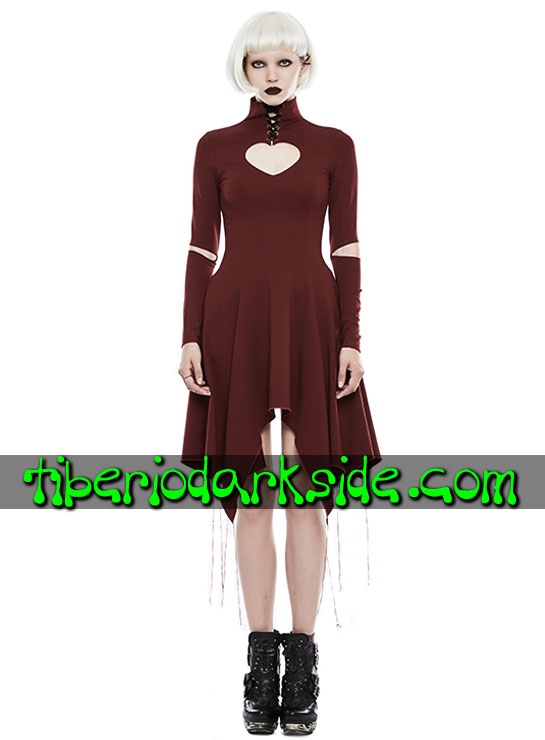 Tiberio Dark Side. CASUAL GOTH - PUNK RAVE Vestido Casual Goth Corazon Rojo