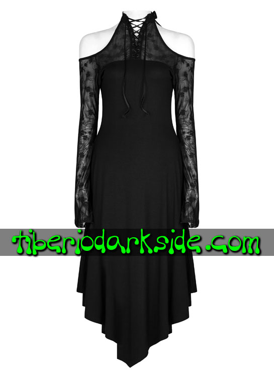 Tiberio Dark Side. VICTORIAN GOTH - PUNK RAVE Flower Mesh Gothic Dress