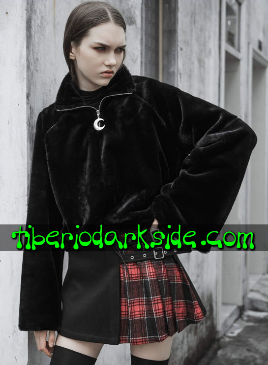 Tiberio Dark Side.  - PUNK RAVE Falda Casual Goth Tartan Lateral