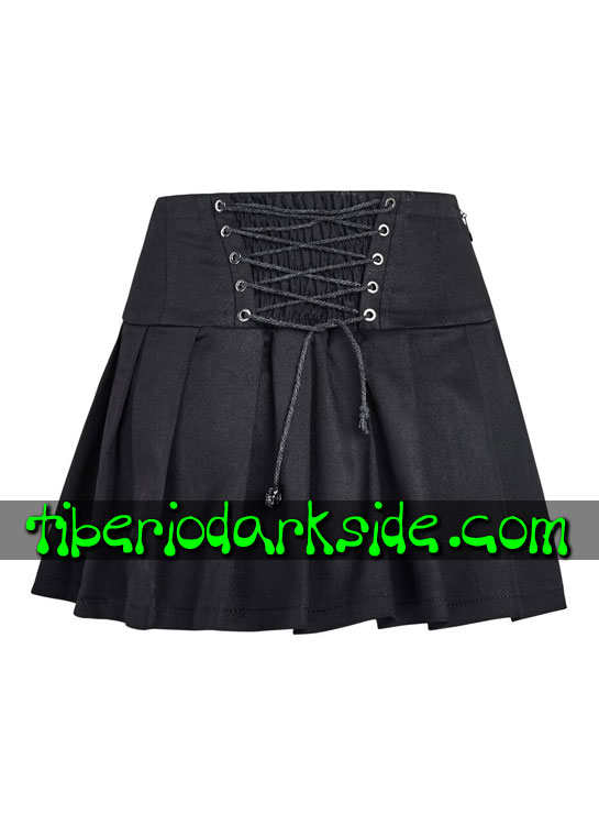 Tiberio Dark Side. CASUAL GOTH - PUNK RAVE Falda Casual Goth Tablas Cintura Alta