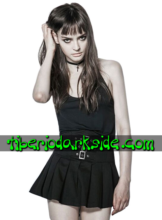 Tiberio Dark Side. Cortas - PUNK RAVE Falda Casual Goth Tablas Cintura Alta