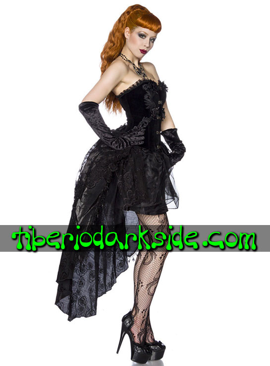 Tiberio Dark Side. VICTORIAN GOTH - PUNK RAVE Velvet Corset Gothic Dress