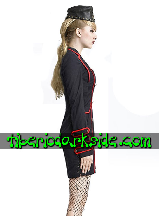 Tiberio Dark Side. CORPORATE & MILITARY GOTH - PUNK RAVE Vestido Militar Uniforme Negro