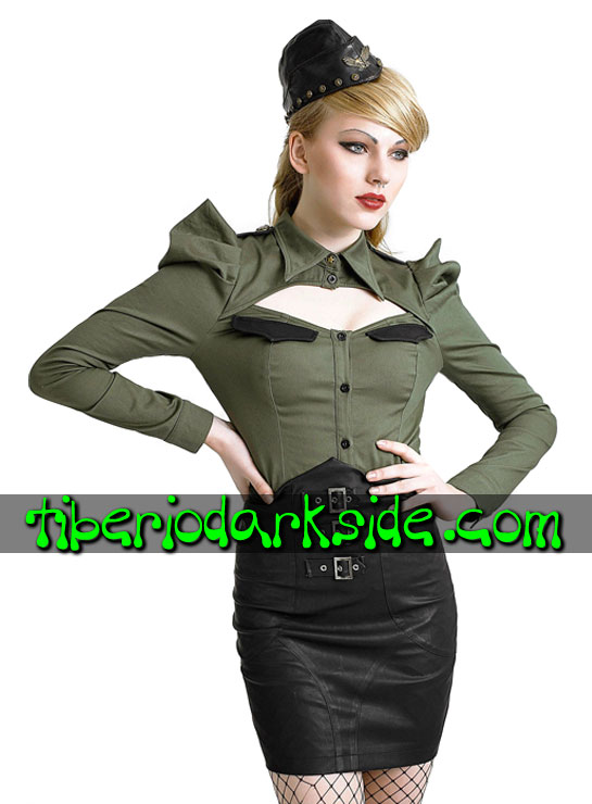 Tiberio Dark Side. Short - PUNK RAVE High Waist Buckles Faux Leather Skirt