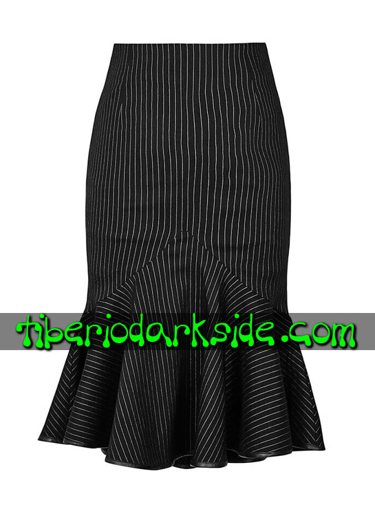 Tiberio Dark Side. CORPORATE & MILITARY GOTH - PUNK RAVE Falda Uniforme Raya Diplomatica Blanco