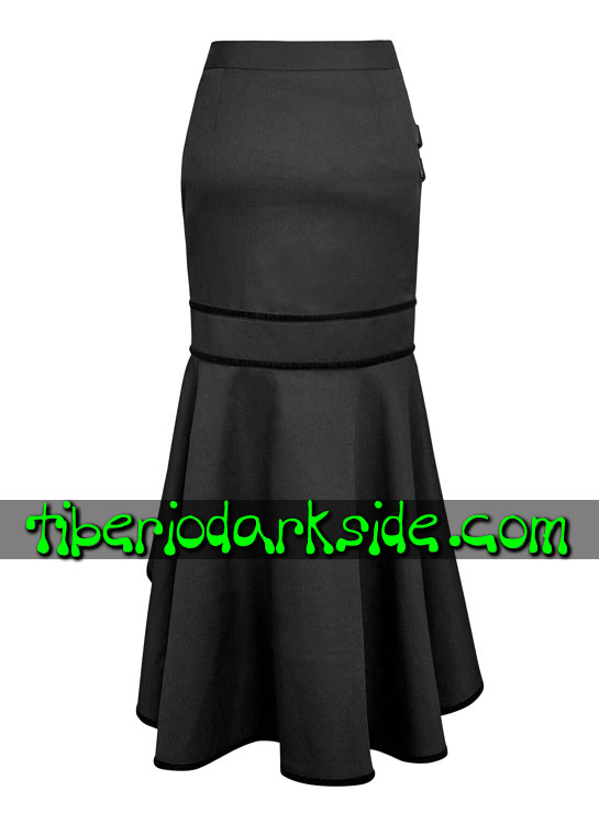 Tiberio Dark Side. Largas - PUNK RAVE Falda Militar Uniforme Hebillas