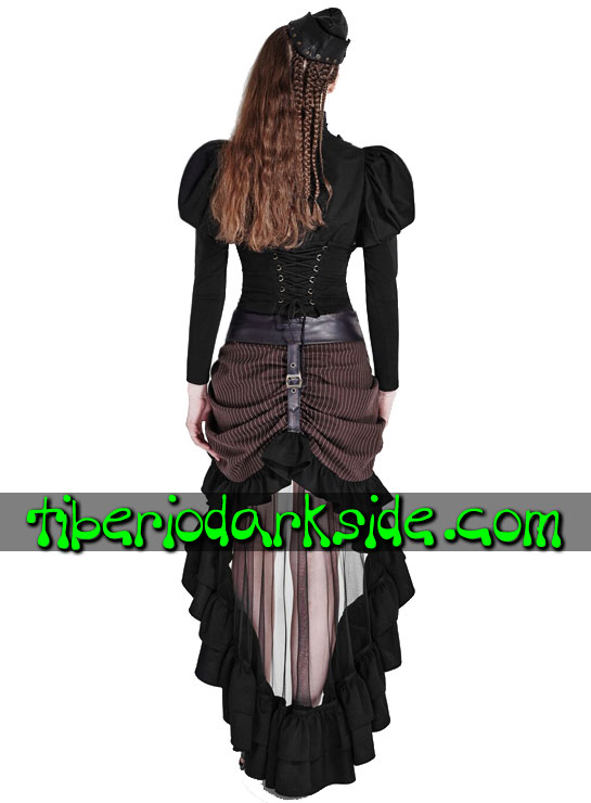 Tiberio Dark Side. Steampunk - PUNK RAVE Falda Steampunk Cola Transparente