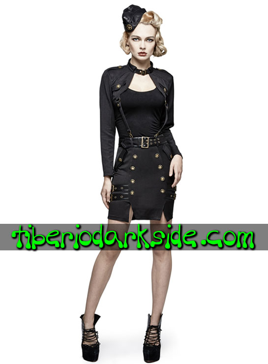 Tiberio Dark Side.  - PUNK RAVE Falda Militar Uniforme Estrellas