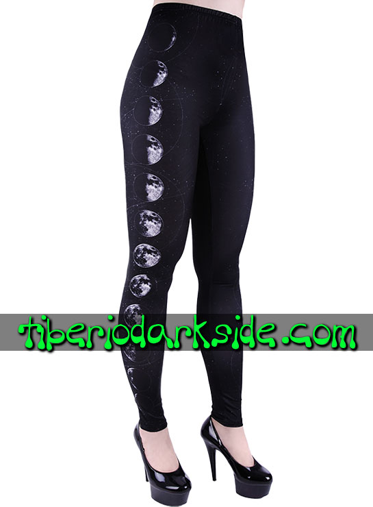 Tiberio Dark Side Leggings - RESTYLE Leggings Nu Goth Fases de la Luna