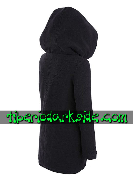 Tiberio Dark Side Hoodies - RESTYLE Fur Trim Zipper Nu Goth Long Hoodie