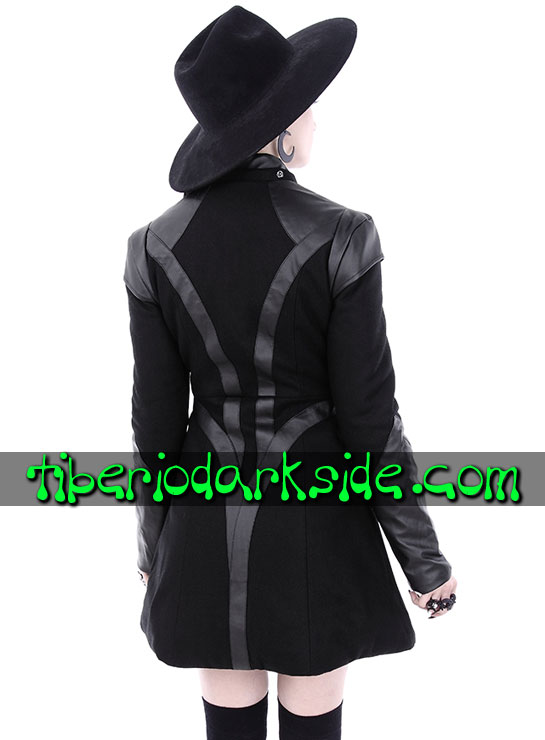 Tiberio Dark Side CYBER GOTH - RESTYLE Future Cyber Goth Hooded Coat