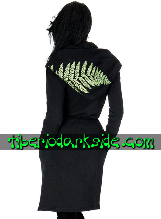 Tiberio Dark Side  - RESTYLE Sudadera Larga Witchy Goth Helecho Bosque