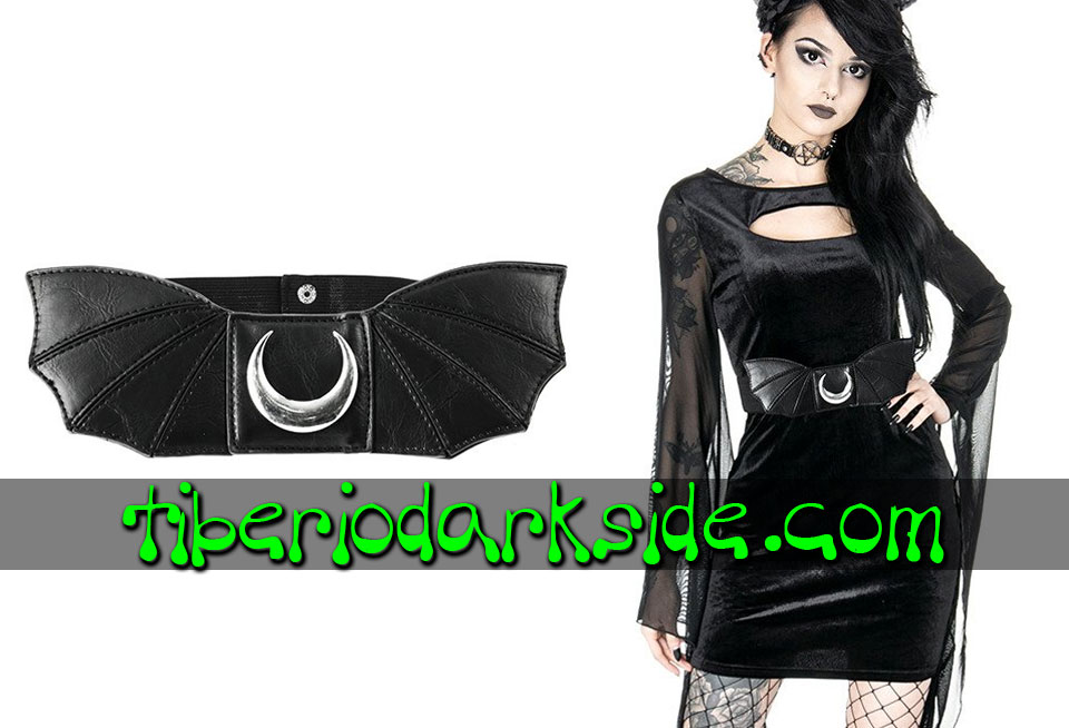 WITCHY & NU GOTH - Accessories RESTYLE Moon Bat Wings Nu Goth Belt