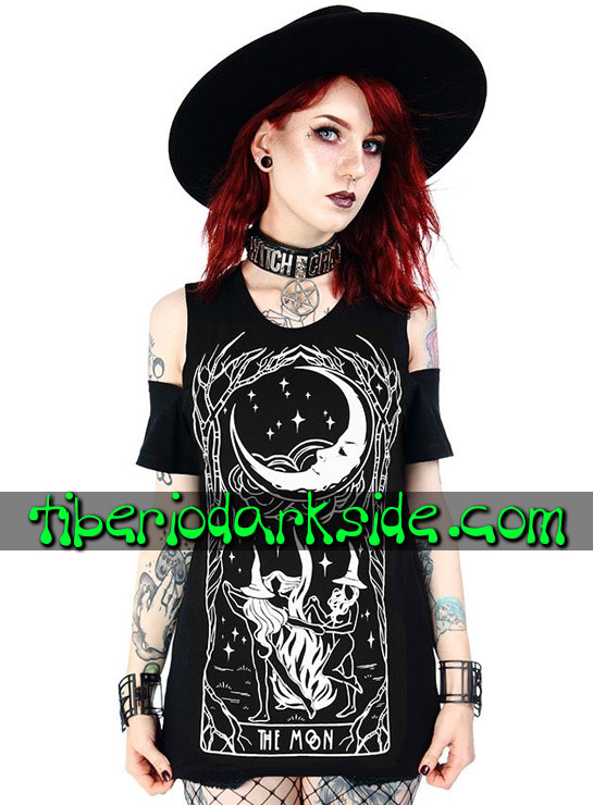 Tiberio Dark Side Manga Corta - RESTYLE Camiseta Hombros The Moon Witches Chant