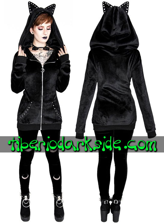 Tiberio Dark Side Leggings - RESTYLE Leggings Nu Goth Doble Luna Terciopelo