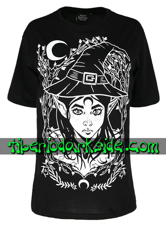 Tiberio Dark Side Camisetas - RESTYLE Camiseta Oversize Elf Witch