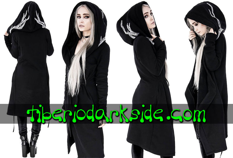 RESTYLE - Outwear RESTYLE Into the Wild Antlers Nu Goth Long Hoodie