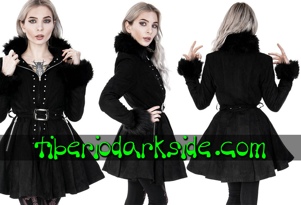 RESTYLE - Outwear RESTYLE Belt Pleated Skirt Nu Goth Coat