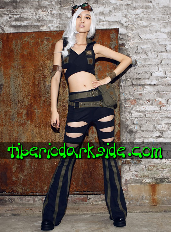 Tiberio Dark Side. Tops - RQ-BL Top Steampunk Capucha