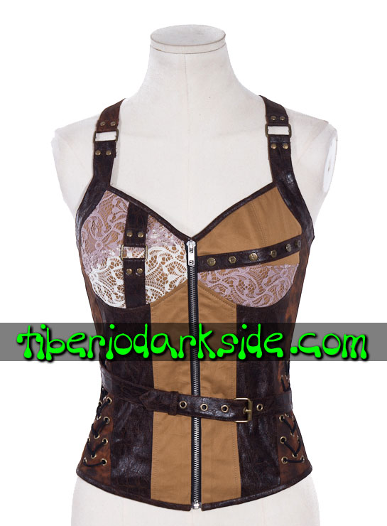 STEAMPUNK - Tops RQ-BL Top Steampunk Parches Marron