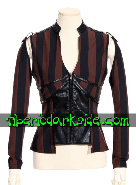 STEAMPUNK - Tops RQ-BL Top Steampunk Rayas Anchas