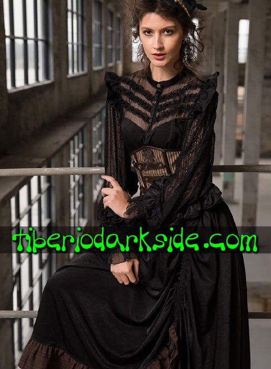 Tiberio Dark Side. Dresses - RQ-BL Victorian Blouse Steampunk Dress