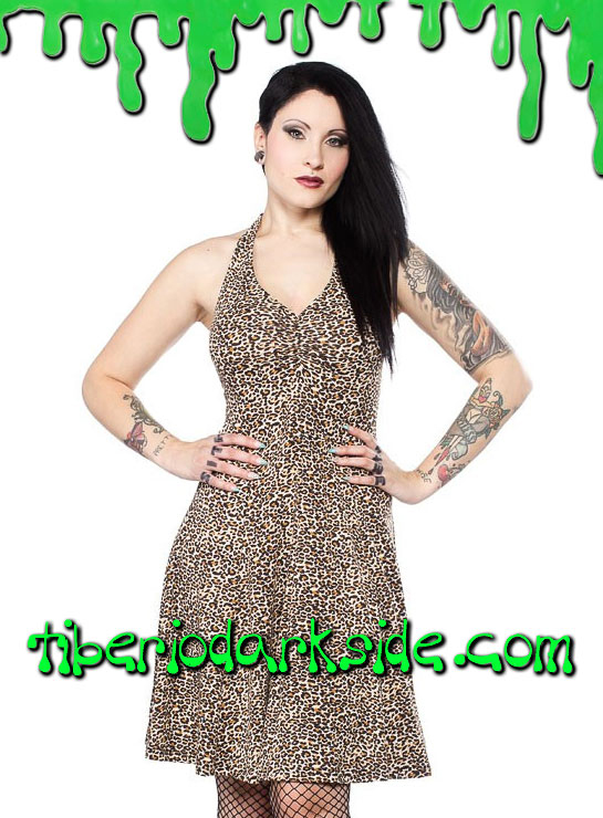 Vestidos - Pin Up / Psychobilly SOURPUSS Vestido Glamour Leopardo