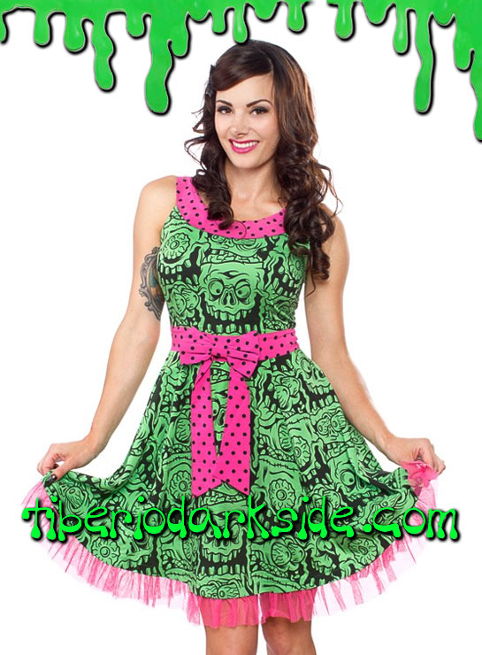 Vestidos - Pin Up / Psychobilly SOURPUSS Vestido Melting Monsters
