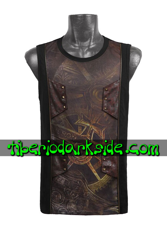 HOMBRE - Tops PUNK RAVE Top Steampunk Mecanismo