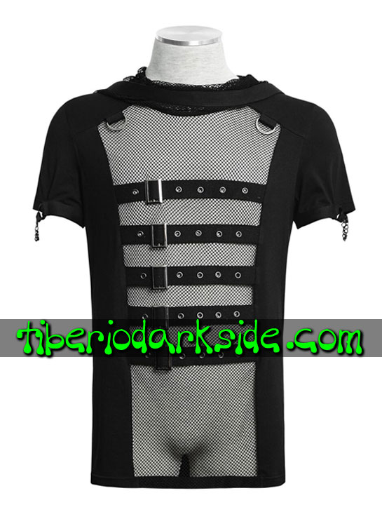 HOMBRE - Tops PUNK RAVE Top Cyber Red Capucha