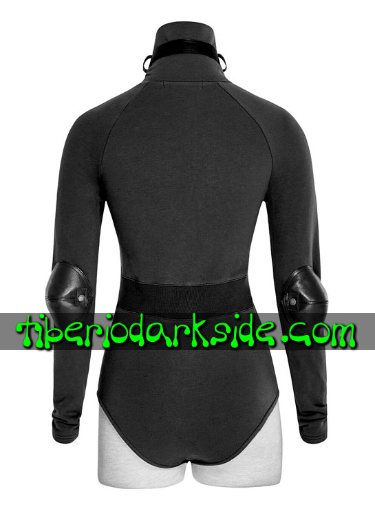 Tiberio Dark Side. MILITAR - PUNK RAVE Body Militar Uniforme Negro