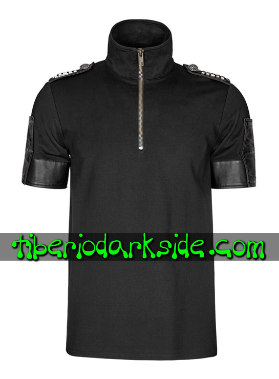 Tiberio Dark Side. CORPORATE & MILITARY GOTH - PUNK RAVE Top Polo Military Goth