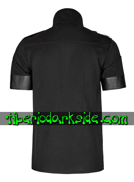 Tiberio Dark Side. Tops - PUNK RAVE Top Polo Military Goth